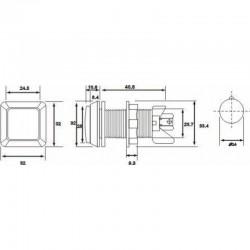 Przycisk kompletny z żarówką do automatów ŻÓŁTY