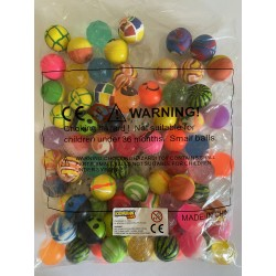 100 x BOUNCING BALL -  LUX 32mm